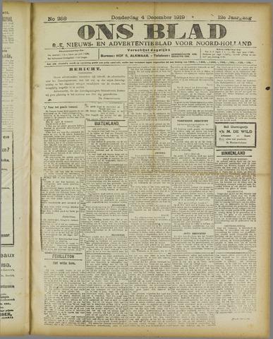 Ons Blad : katholiek nieuwsblad voor N-H 1919-12-04