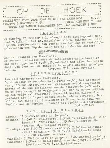 Op De Hoek, weekblad voor Akersloot 1964-11-06