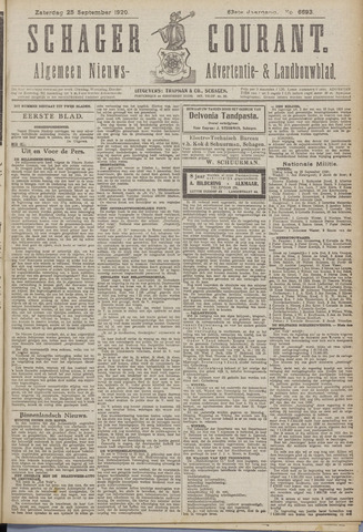 Schager Courant 1920-09-25
