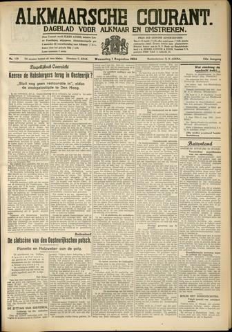 Alkmaarsche Courant 1934-08-01