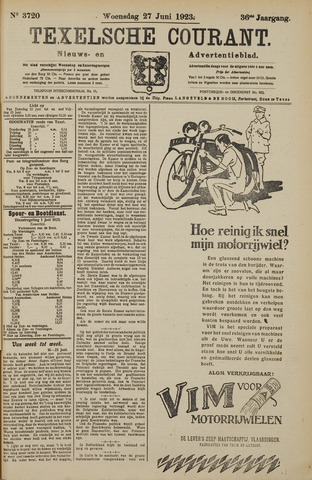 Texelsche Courant 1923-06-27