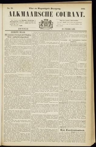 Alkmaarsche Courant 1892-02-28