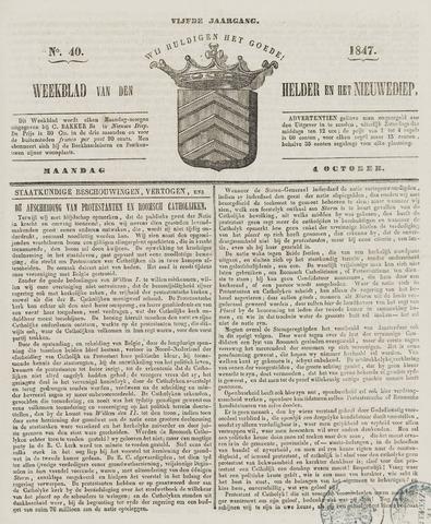 Weekblad van Den Helder en het Nieuwediep 1847-10-04