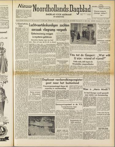 Nieuw Noordhollandsch Dagblad : voor Alkmaar en omgeving 1952-04-01