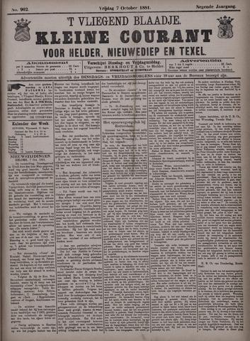 Vliegend blaadje : nieuws- en advertentiebode voor Den Helder 1881-10-07