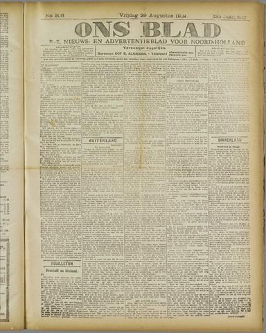 Ons Blad : katholiek nieuwsblad voor N-H 1919-08-29