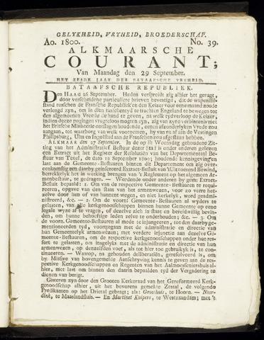 Alkmaarsche Courant 1800-09-29