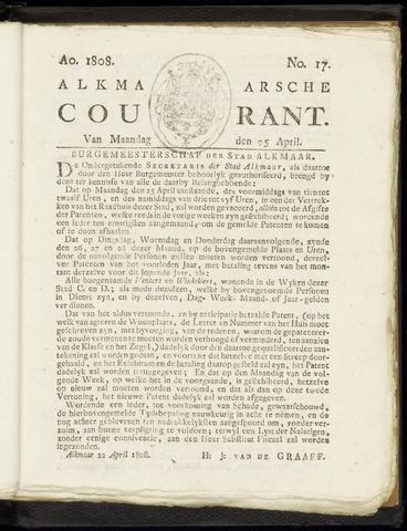 Alkmaarsche Courant 1808-04-25
