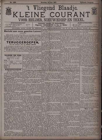 Vliegend blaadje : nieuws- en advertentiebode voor Den Helder 1887-06-18