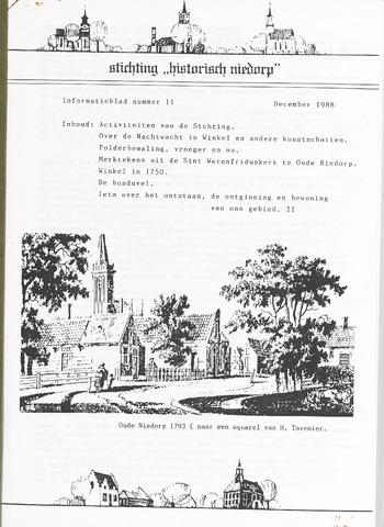 Informatieblad stichting Historisch Niedorp 1988-12-01