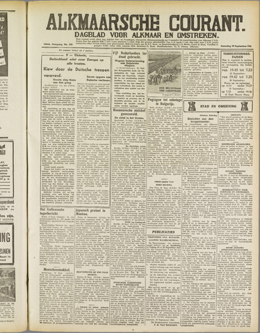 Alkmaarsche Courant 1941-09-20