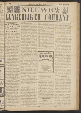 Nieuwe Langedijker Courant 1926-06-26