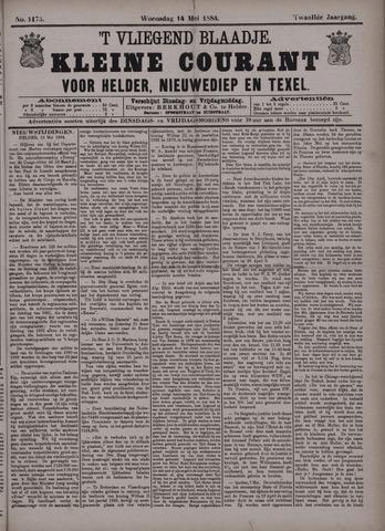 Vliegend blaadje : nieuws- en advertentiebode voor Den Helder 1884-05-14