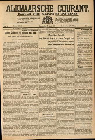 Alkmaarsche Courant 1934-04-19