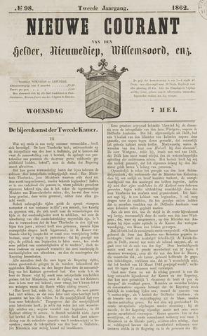 Nieuwe Courant van Den Helder 1862-05-07
