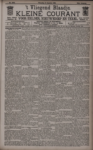 Vliegend blaadje : nieuws- en advertentiebode voor Den Helder 1894-08-15