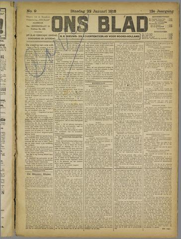 Ons Blad : katholiek nieuwsblad voor N-H 1918-01-22