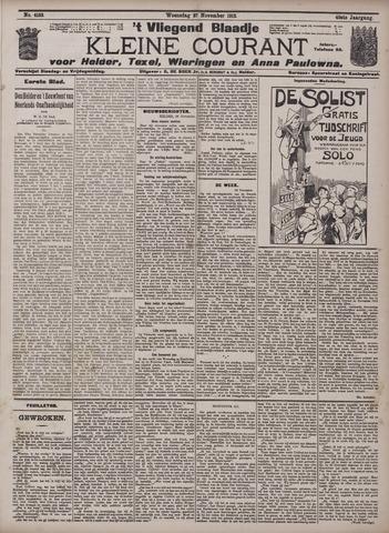 Vliegend blaadje : nieuws- en advertentiebode voor Den Helder 1912-11-27