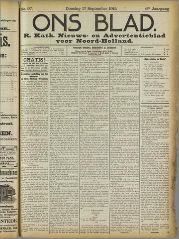 Ons Blad : katholiek nieuwsblad voor N-H 1912-09-17
