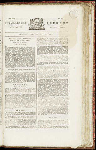 Alkmaarsche Courant 1821-10-22
