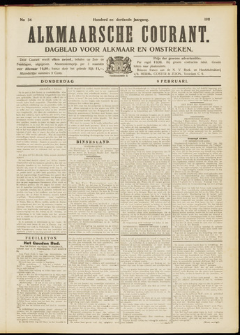 Alkmaarsche Courant 1911-02-09