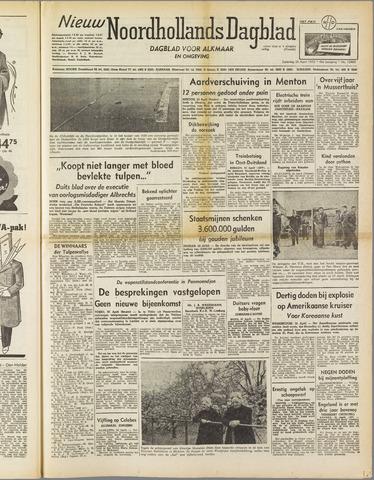 Nieuw Noordhollandsch Dagblad : voor Alkmaar en omgeving 1952-04-26