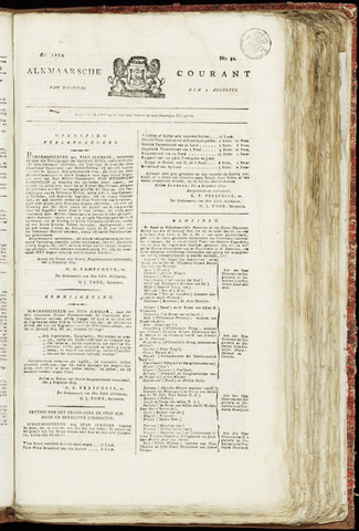 Alkmaarsche Courant 1819-08-09