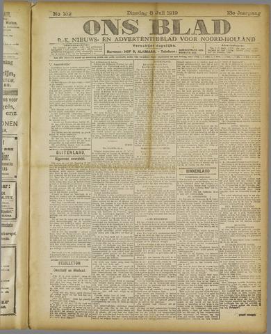 Ons Blad : katholiek nieuwsblad voor N-H 1919-07-08