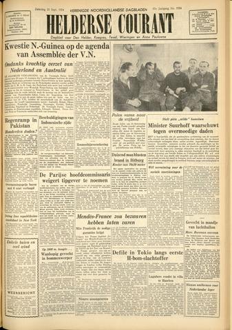 Heldersche Courant 1954-09-25