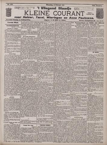 Vliegend blaadje : nieuws- en advertentiebode voor Den Helder 1913-02-12