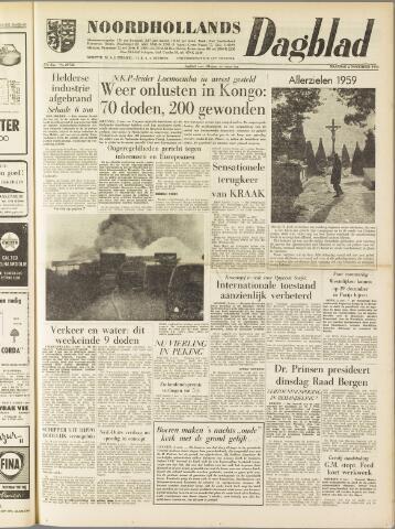 Noordhollands Dagblad : dagblad voor Alkmaar en omgeving 1959-11-02