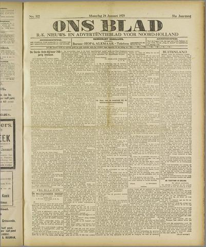 Ons Blad : katholiek nieuwsblad voor N-H 1921-01-24