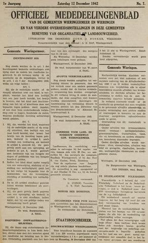 Mededeelingenblad Wieringermeer en Wieringen 1942-12-12