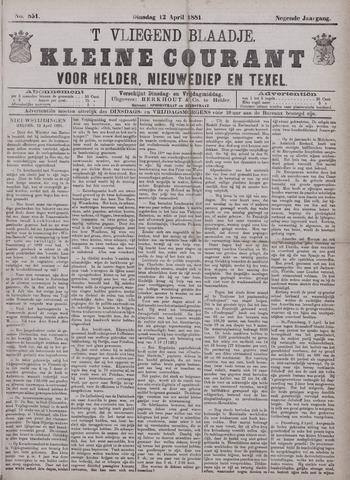 Vliegend blaadje : nieuws- en advertentiebode voor Den Helder 1881-04-12