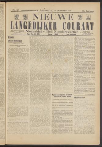 Nieuwe Langedijker Courant 1930-10-16