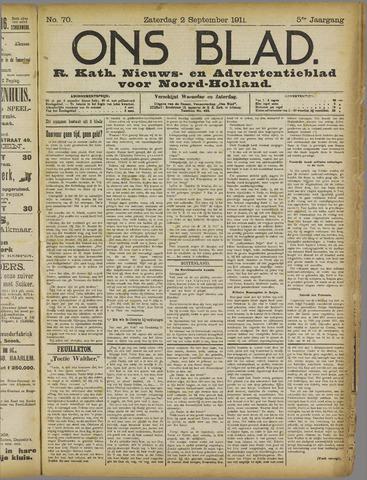 Ons Blad : katholiek nieuwsblad voor N-H 1911-09-02