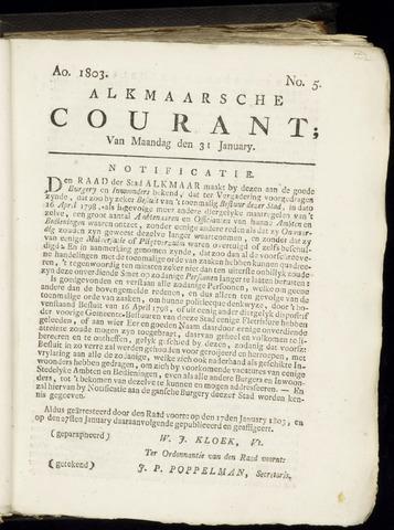 Alkmaarsche Courant 1803-01-31