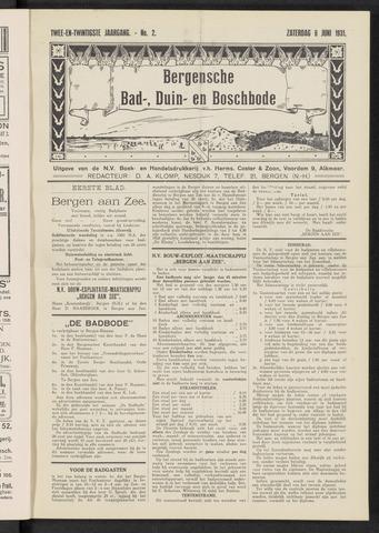 Bergensche bad-, duin- en boschbode 1931-06-06
