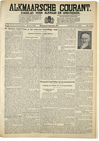 Alkmaarsche Courant 1937-09-27