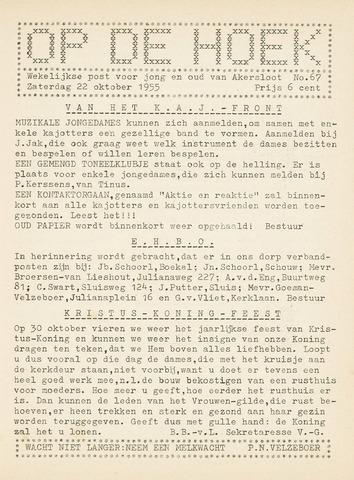 Op De Hoek, weekblad voor Akersloot 1955-10-22
