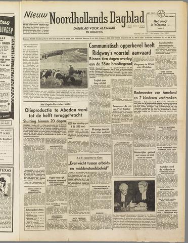 Nieuw Noordhollandsch Dagblad : voor Alkmaar en omgeving 1951-07-02