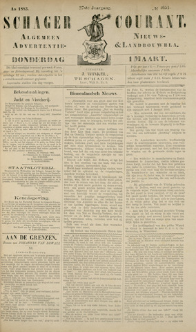 Schager Courant 1883-03-01
