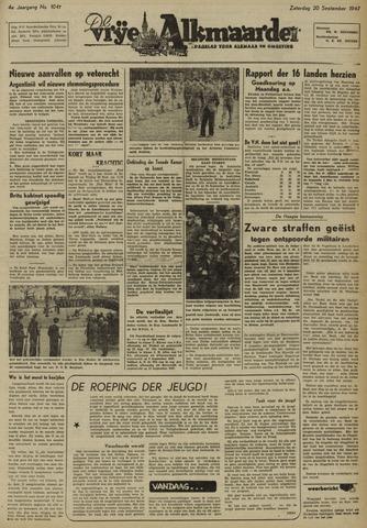 De Vrije Alkmaarder 1947-09-20