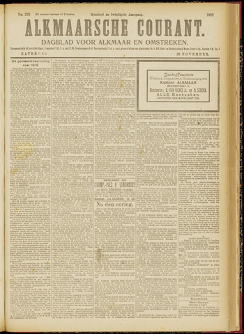 Alkmaarsche Courant 1918-11-23