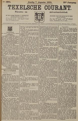 Texelsche Courant 1910-08-07