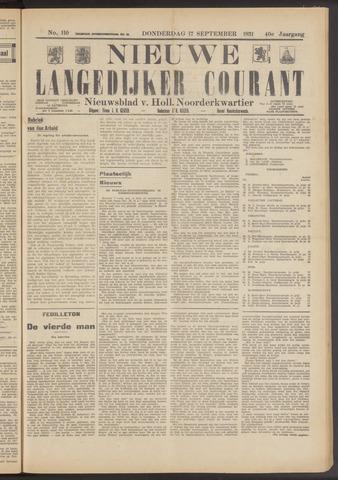 Nieuwe Langedijker Courant 1931-09-17