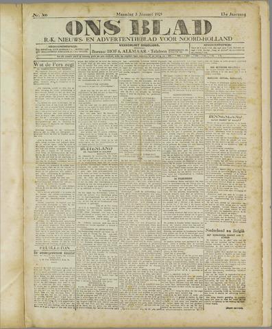 Ons Blad : katholiek nieuwsblad voor N-H 1921-01-03