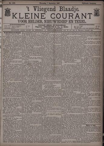 Vliegend blaadje : nieuws- en advertentiebode voor Den Helder 1887-09-07