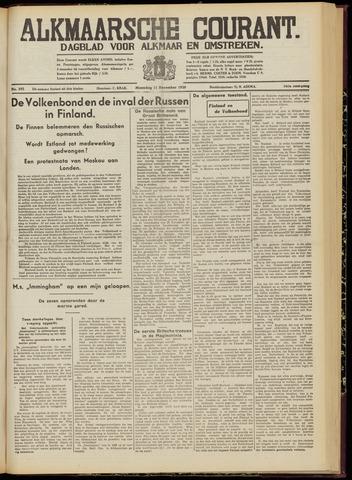Alkmaarsche Courant 1939-12-11