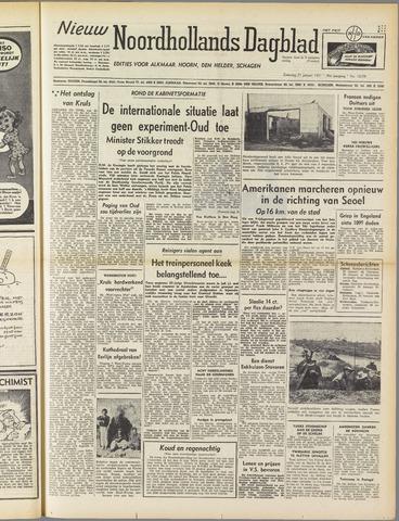 Nieuw Noordhollandsch Dagblad : voor Alkmaar en omgeving 1951-01-27